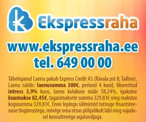 Ekspressraha kiirlaenud internetist