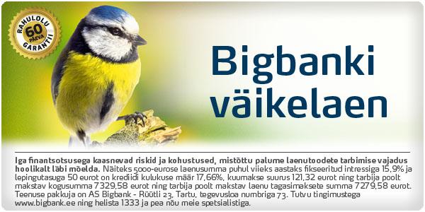 BIGBANK 60-PÄEVANE RAHULOLUGARANTII