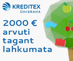 Kreditex Ühisraha laenud ilma tagatiseta kuni €5000
