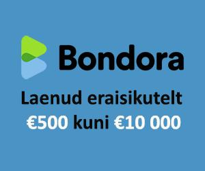 Bondora laenud eraisikutelt - €500 kuni €10 000